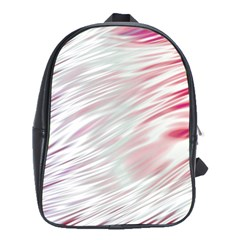 Fluorescent Flames Background With Special Light Effects School Bags(Large)
