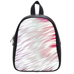 Fluorescent Flames Background With Special Light Effects School Bags (Small)