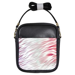 Fluorescent Flames Background With Special Light Effects Girls Sling Bags