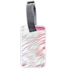 Fluorescent Flames Background With Special Light Effects Luggage Tags (one Side)