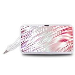 Fluorescent Flames Background With Special Light Effects Portable Speaker (White)