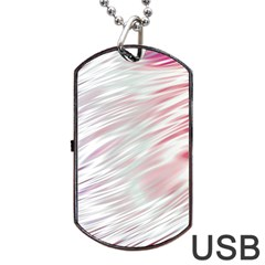Fluorescent Flames Background With Special Light Effects Dog Tag USB Flash (One Side)