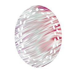 Fluorescent Flames Background With Special Light Effects Oval Filigree Ornament (Two Sides)