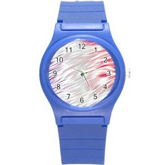 Fluorescent Flames Background With Special Light Effects Round Plastic Sport Watch (s)