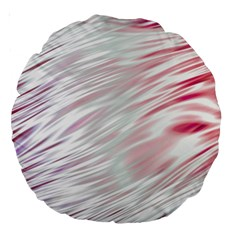 Fluorescent Flames Background With Special Light Effects Large 18  Premium Round Cushions
