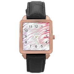 Fluorescent Flames Background With Special Light Effects Rose Gold Leather Watch