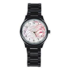 Fluorescent Flames Background With Special Light Effects Stainless Steel Round Watch