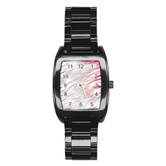 Fluorescent Flames Background With Special Light Effects Stainless Steel Barrel Watch