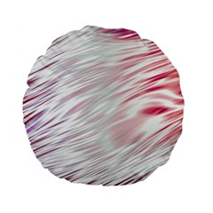 Fluorescent Flames Background With Special Light Effects Standard 15  Premium Flano Round Cushions