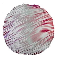 Fluorescent Flames Background With Special Light Effects Large 18  Premium Flano Round Cushions