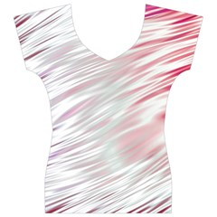 Fluorescent Flames Background With Special Light Effects Women s V-Neck Cap Sleeve Top