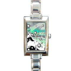 Small And Big Bubbles Rectangle Italian Charm Watch