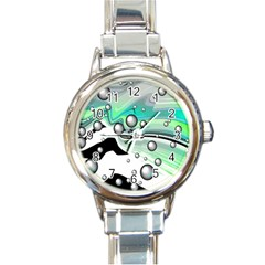 Small And Big Bubbles Round Italian Charm Watch
