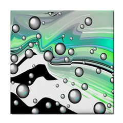 Small And Big Bubbles Tile Coasters
