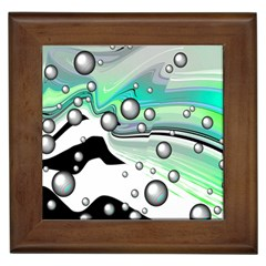 Small And Big Bubbles Framed Tiles
