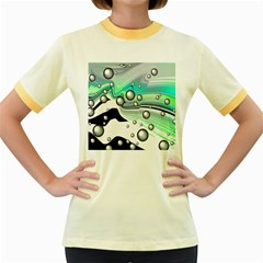 Small And Big Bubbles Women s Fitted Ringer T-Shirts