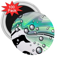 Small And Big Bubbles 3  Magnets (100 pack)