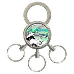 Small And Big Bubbles 3-Ring Key Chains