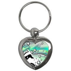 Small And Big Bubbles Key Chains (heart)