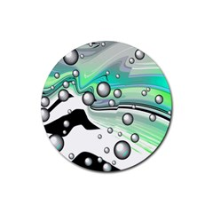 Small And Big Bubbles Rubber Round Coaster (4 Pack)