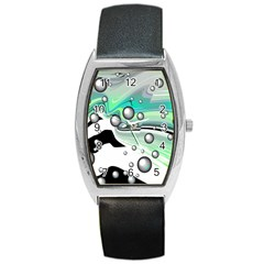 Small And Big Bubbles Barrel Style Metal Watch