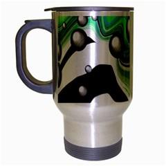 Small And Big Bubbles Travel Mug (silver Gray)