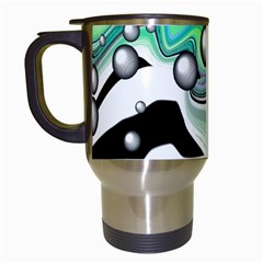 Small And Big Bubbles Travel Mugs (White)