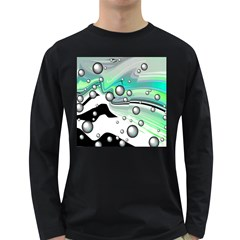 Small And Big Bubbles Long Sleeve Dark T-Shirts