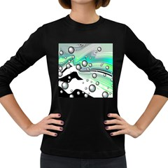 Small And Big Bubbles Women s Long Sleeve Dark T Shirts