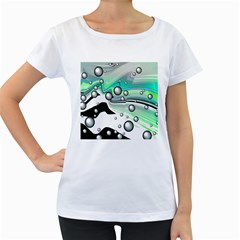 Small And Big Bubbles Women s Loose-Fit T-Shirt (White)