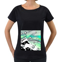 Small And Big Bubbles Women s Loose-Fit T-Shirt (Black)