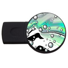 Small And Big Bubbles USB Flash Drive Round (4 GB)