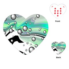 Small And Big Bubbles Playing Cards (heart)