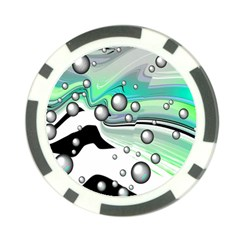 Small And Big Bubbles Poker Chip Card Guard