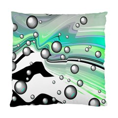 Small And Big Bubbles Standard Cushion Case (Two Sides)