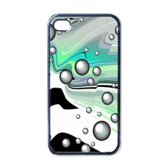 Small And Big Bubbles Apple Iphone 4 Case (black)