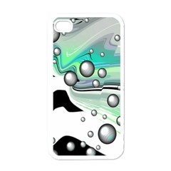 Small And Big Bubbles Apple Iphone 4 Case (white)
