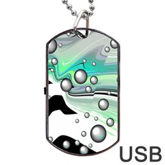 Small And Big Bubbles Dog Tag USB Flash (One Side)