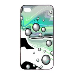 Small And Big Bubbles Apple iPhone 4/4s Seamless Case (Black)