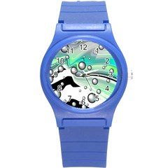 Small And Big Bubbles Round Plastic Sport Watch (s)