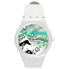 Small And Big Bubbles Round Plastic Sport Watch (M)