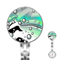 Small And Big Bubbles Stainless Steel Nurses Watch