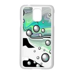 Small And Big Bubbles Samsung Galaxy S5 Case (white)