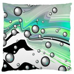 Small And Big Bubbles Large Flano Cushion Case (Two Sides)