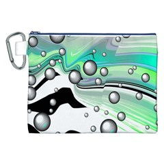 Small And Big Bubbles Canvas Cosmetic Bag (XXL)