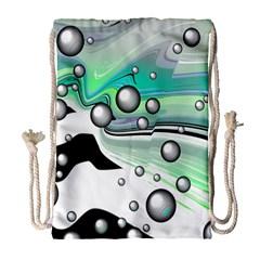 Small And Big Bubbles Drawstring Bag (Large)