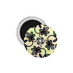 Completely Seamless Tileable Doodle Flower Art 1.75  Magnets