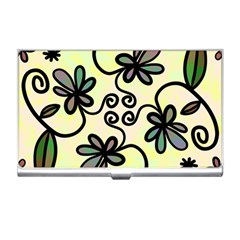 Completely Seamless Tileable Doodle Flower Art Business Card Holders