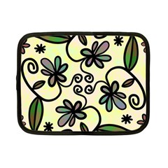 Completely Seamless Tileable Doodle Flower Art Netbook Case (small)