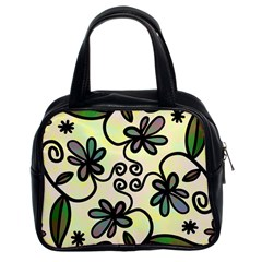 Completely Seamless Tileable Doodle Flower Art Classic Handbags (2 Sides)